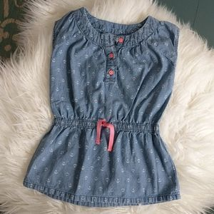 Carter's 4T Chambray Anchor Tunic